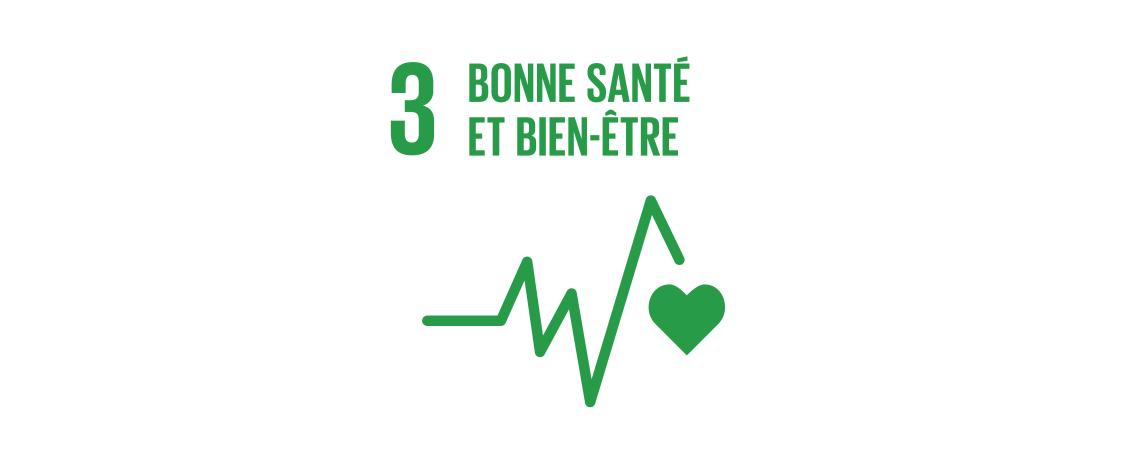 Logo des objectifs de développement durable : bonne santé et bien-être