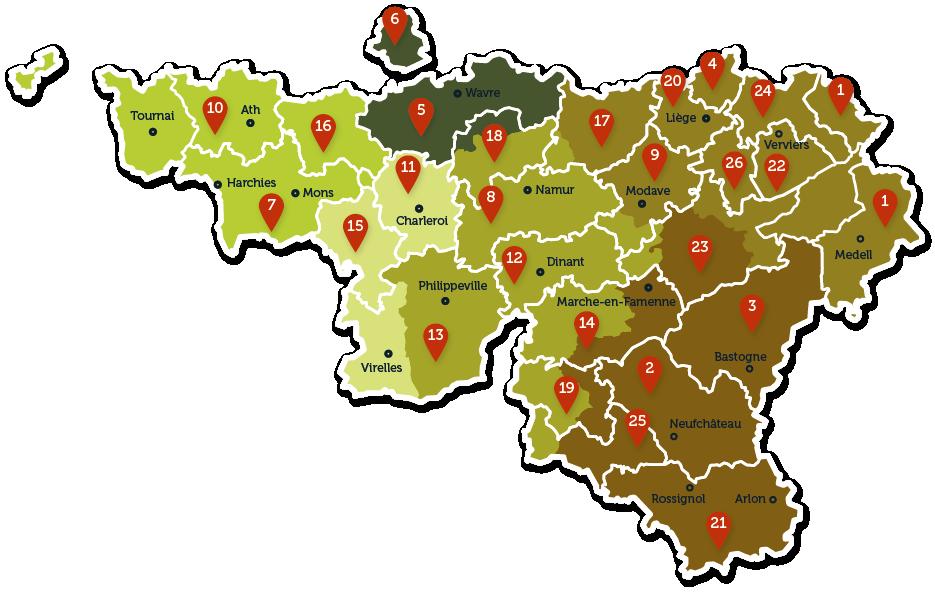 Carte des régionales 2018