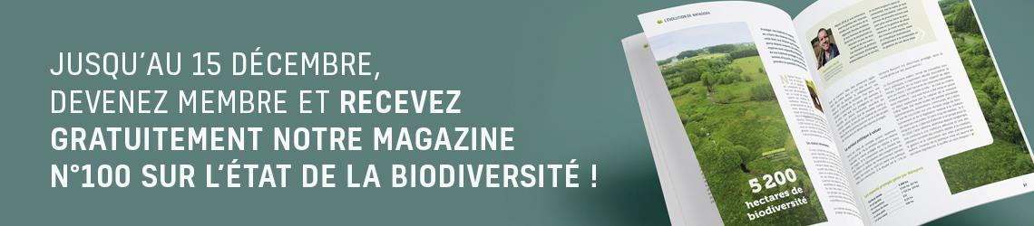 Gratuit jusqu'au 15 décembre, notre magazine n°100 sur l'état de la biodiversité !